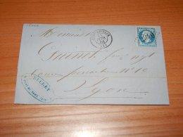 France 1866 Pont-de-Vaux Letter__(L-15943) - 1863-1870 Napoleon III With Laurels
