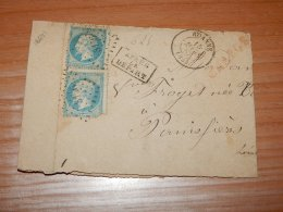 France 1867 Roanne Letter Used As Wrapper__(L-16641) - 1863-1870 Napoleone III Con Gli Allori
