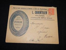 France 1927 Jonzac L.Chaintrier Business Cover__(L-14621) - Francia