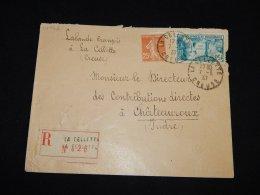 France 1937 La Celletter Registered Cover__(L-14752) - France