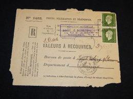 France 1945 Valery Registered Paper__(L-14948) - France