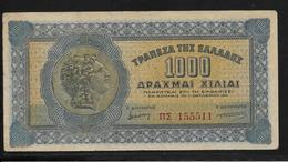 Grèce -  1000 Drachmes - Pick N°117 - TTB - Grèce