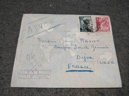 PORTUGAL GUINE GUINEA CIRCULATED COVER BISSAU TO DIJON FRANCE 1950'S - Guinea Portuguesa
