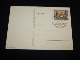 Germany 1943 Magdeburg Tag Der Briefmarke Cancellation Card__(L-14293) - Alemania