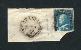 SICILIA 1859 - Effigie Di Ferdinando II - 2 Gr. Azzurro Chiaro - Sassone 8 - Sicilia