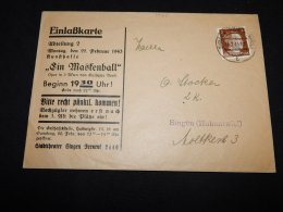 Germany 1943 Singen Business Cover__(L-14261) - Germania
