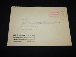 Germany 1948 Augsburg Gebuhr Bezahlt Cover__(L-12780) - Deutschland