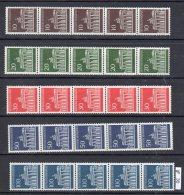 Bund   506  - 510  R  ** Postfrisch 5er Streifen  Mit Nr. - [7] Federal Republic