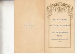 02-vic Sur Aisne  Compagnie D Arc Fete De St Sebastien  Bal Du 19 Janvier  1928 - Programmes