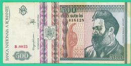 500 Lei -  Roumanie - N°. 416128 - B.0025 - 1992 - TTB - - Roumanie