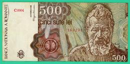 500 Lei -  Roumanie - N°. 163231 - C.0004 - 1991 - TTB+ - - Roumanie