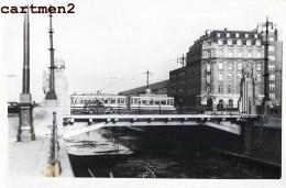 BRUXELLES PONT PLACE SAINCTELETTE TRAMWAY CHANTIER TRAVAUX PUBLIC CONSTRUCTION GENIE CIVIL Peniche Camion Bulldozer - Trasporto Pubblico Stradale