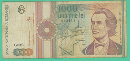 1000 Lei -  Roumanie - N°. 942813 - G.0005  - TTB - 1991 - Roumanie