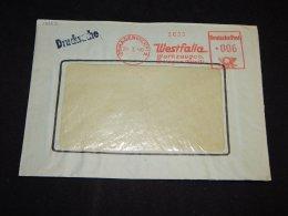 Germany 1948 Hagen Westfalia Meter Mark Cover__(L-13552) - Deutschland