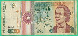 1000 Lei -  Roumanie - N°. 654232 - G.0020  - TTB - 1991 - Roumanie