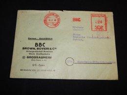 Germany 1949 Grossauheim BBC Meter Mark Cover__(L-13618) - Germany