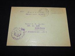 Germany 1954 Heidelberg Postamt Cover__(L-12749) - Germany
