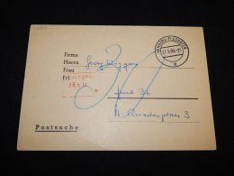 Germany 1960 Hamburg-Flughafen Card__(L-12784) - Autres