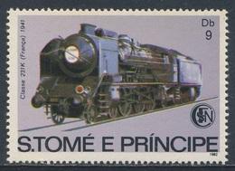 Sao Tomé E Principe 1982 Mi 808 ** Steam Locomotive 231 K, France (1941) / Dampflokomotive - Treinen