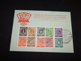 Germany Allied 1946 FDGB Special Cancellation Card__(L-14589) - Gemeinschaftsausgaben