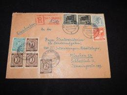 Germany Allied 1947 Steun Nurnberg Registered Cover__(L-13575) - Gemeinschaftsausgaben