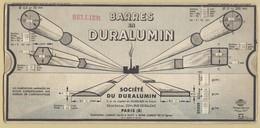 1) Entreprise BELLIER 1932 Unité De Mesure Barres Et Profilés En Duralumin NORMUS - Vieux Papiers