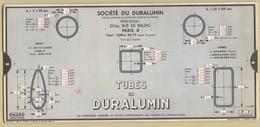 2) Entreprise BELLIER 1938 Unité Mesure Tubes Planches Bandes Rivets Duralumin OMARO - Vieux Papiers