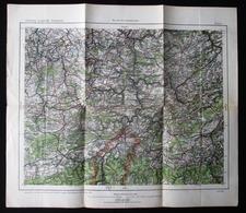1916 CARTE D'ETAT MAJOR NAMUR POUR PILOTES ALLEMANDS - ORDNANCE SURVEY MAP FOR GERMAN PILOTS REGION OF NAMUR 1916 ! RARE - 1914-18