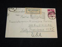 Germany Bizone 1948 Wiesbaden Air Mail Cover To USA__(L-13620) - Bizone