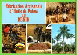 BENIN / DAHOMEY / FABRICATION DE L'HUILE DE PALME / DEUX FILLES AUX SEINS NUS FOULENT LES NOIX... / Carte écrite En 1985 - Benin