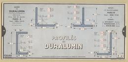 3) Entreprise BELLIER 1938 Unité De Mesure Profilés Fils & Barres Duralumin OMARO - Old Paper