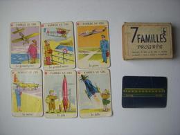 JEU DES 7 FAMILLES COMPLET - PROGRES - 1950 - LE RAIL LE CIEL BATEAU LA ROUTE VELO MOTO TRANSPORT - Group Games, Parlour Games