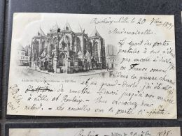 Belle Carte Postale Pour Le Luxembourg Wormeldange +- 1900 Lille Abside Eglise Saint Maurice - Lille
