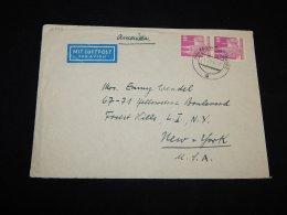 Germany Bizone 1951 Frankfurt Air Mail Cover To USA__(L-12822) - Bizone
