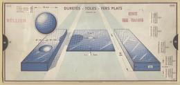 4) Entreprise BELLIER 1935 Unité De Mesure Duretés Toles Fers Plats Acier Doux OMARO - Vieux Papiers
