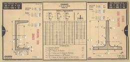5) Entreprise BELLIER 1935 Unité De Mesure Fers Profilés Poutrelles Larges Ailes OMARO - Vieux Papiers
