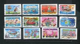 FRANCE - AUTOCOLLANT -  BONNES VACANCES  N° Yvert 1140/1151 Obli. - Adhésifs (autocollants)