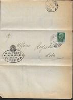 STORIA POSTALE REGNO - ANNULLO FRAZIONARIO CIVENNA (CO) (20-67) SU PIEGO 16.02.1931 PER ERBA - RISPEDIZIONE - Storia Postale