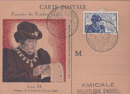 Carte Federale Journée Du Timbre 1945 Auchel - France