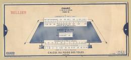 6) Entreprise  BELLIER 1938 Unité Mesure Surface De La Tole ... Surface Du Disque OMARO - Vieux Papiers
