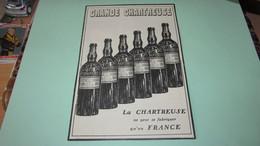LIQUEUR GRANDE CHARTREUSE - PUBLICITE DE 1908. - Publicités