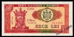 MOLDOVA 10 LEI 1992 Pick 7 AUnc+ - Moldawien (Moldau)