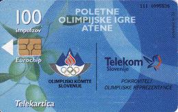 Slovenia,  Chip Card, Olympic Games Athene - Slovénie