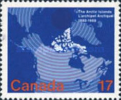 Canada 1980 - One 100th Anniversary Of The Arctic Islands Acquisition Celebrations Map Places Stamp MNH Sc#847 Mi#758 - 1952-.... Reign Of Elizabeth II