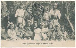 LIBYE, Derna - Gruppo Di Beduini E Neri - Libye