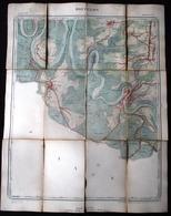1897 GRANDE CARTE ETAT MAJOR DE BOUILLON - De Laviot à Sensenruth Et De Corbion à Bois Beaubru - Bouillon