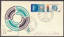 D93   ITALIA FDC 1974 (Ed.Venetia) RACCOMANDATA Viaggiata Con Annullo D'arrivo : UPU - 6. 1946-.. Republic