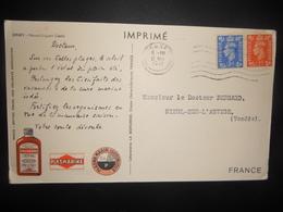 Jersey, Carte De 1951 Pour Nieul-sur-l Autise - Jersey