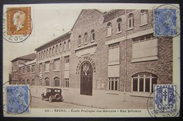 1945 Reims (marne) Jolie Carte Postale De L'école Pratique Des Garçons, Rue Jolicoeur - 1921-1960: Période Moderne