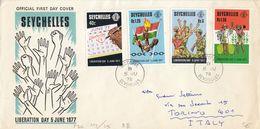 SEYCHELLES - 1978 - Busta FDC, Viaggiata, Affrancata Con Serie Completa Yvert 393/396, 4 Valori. - Seychelles (1976-...)